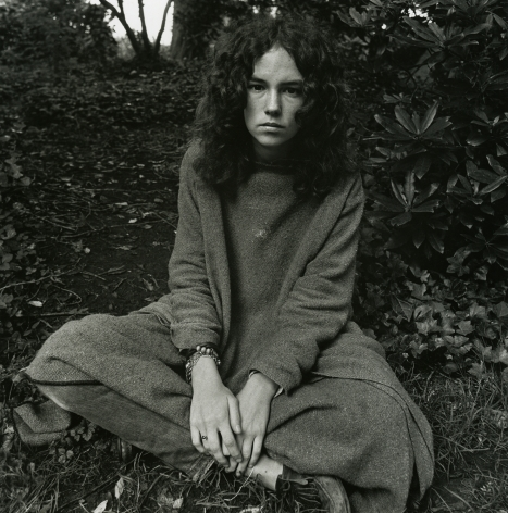 Haight Ashbury (young woman in park), 1968