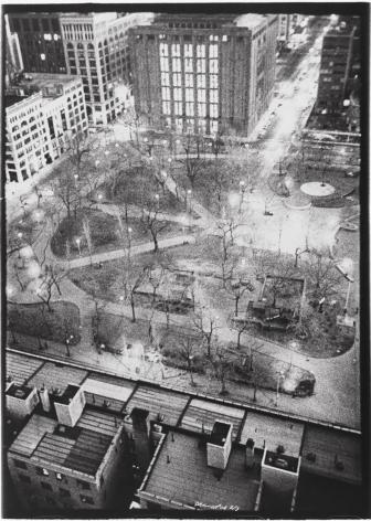 Washington Square, 1978, vintage gelatin silver print (Itek print)