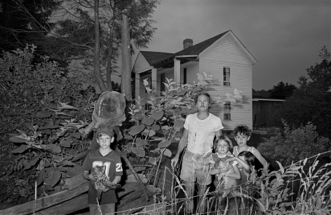 Family Holding Cats at Dusk, Cool Ridge, West Virginia, 1982