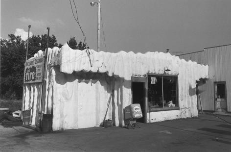 Massachusetts Street, Igloo Gas Station, Lawrence, Kansas, 1977