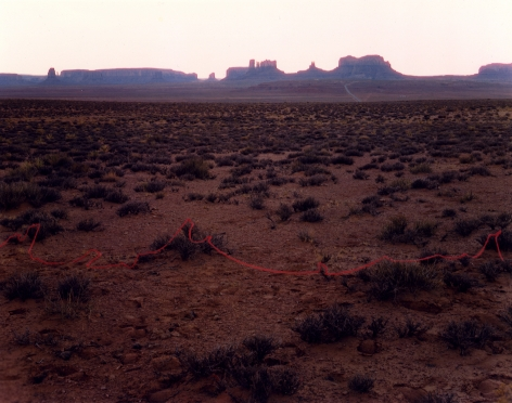 Monument Valley with Red String, Monument Valley, Utah, 1977