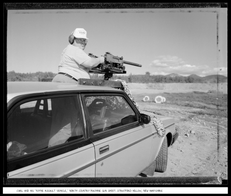Carl and Yuppie Assault Vehicle, Stratford Hollow, New Hampshire, 1991, vintage gelatin silver print