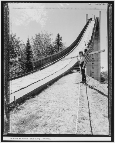 Tim at the 70-Meter, Lake Placid, New York, 1984, vintage gelatin silver print