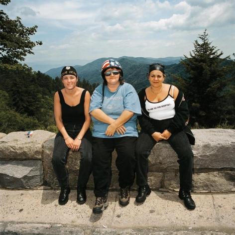 Three Women at Overlook, Great Smokey Mountains, North Carolina
