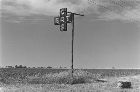 Gas, Eat Sign Near Agra, Kansas, 1978