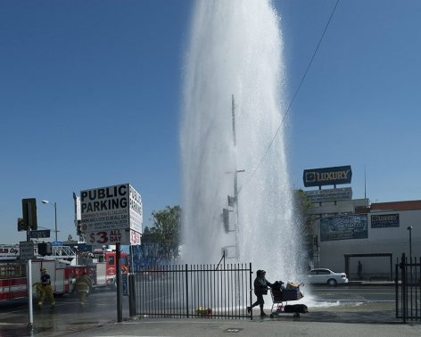 Fire Hydrant, Pico Boulevard, Los Angeles, chromogenic print