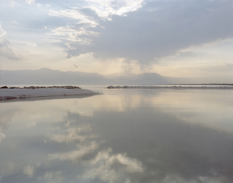 Virginia Beahan, View of Salton Sea Looking West, Desert Beach, CA