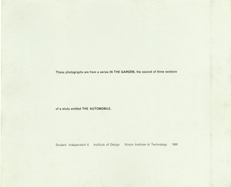a portfolio of ten vintage gelatin silver prints published in 1966, 8 x 10 inches each