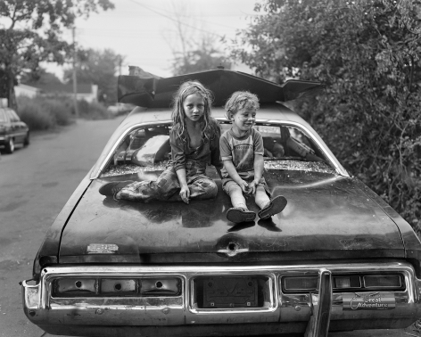 Children on a Wrecked Car, 1983-84