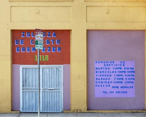 Iglasia Ebenezer, Pico Boulevard, Los Angeles, chromogenic print
