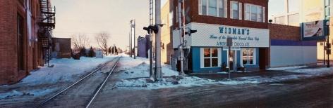 Rail line, Windmer's Chocolate Shop, Grand Forks, North Dakota