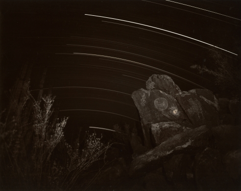 Petroglyphs and Star Trails, Sonora, Mexico, 1991