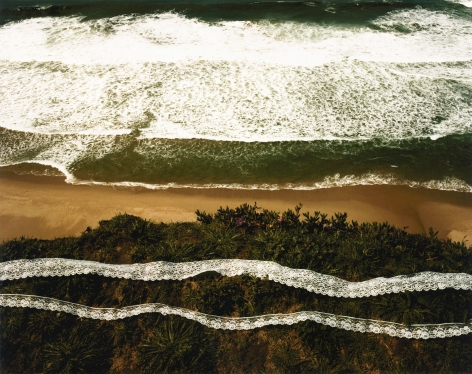 Wave, Lave, Lace, Pescadero Beach, California, 1978