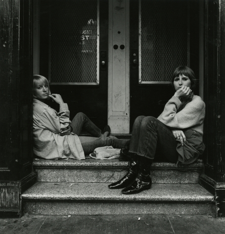 Two Woman from Atlanta on Haight Street Stoop, 1968