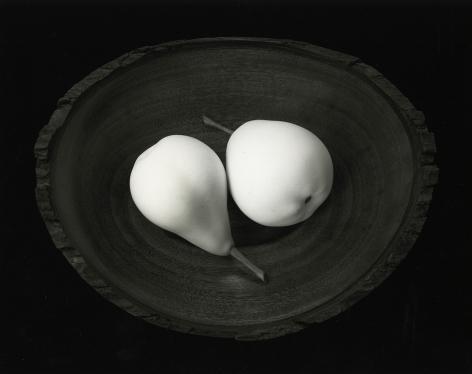Two Pears, Cushing Maine, 1999, gelatin silver print