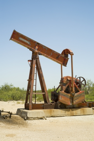Oil Pump Jacks: McCamey, Texas, from the series, Beneath the Dirt of Great Men