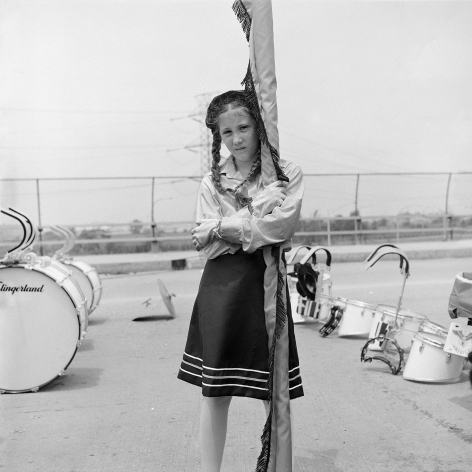 Braided Girl Holding a Flag, 1983-84