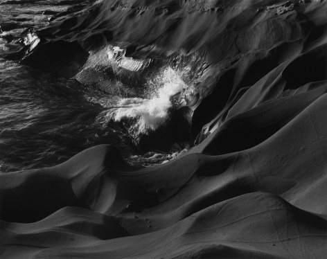 Sandstone and Surf, Cape Kiwanda, Oregon, 1959, gelatin silver print