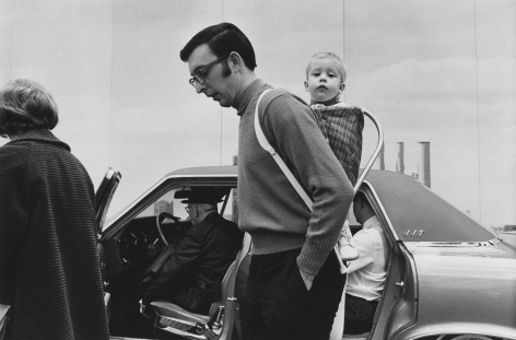 Father and child at the Detroit Auto Show , 1968