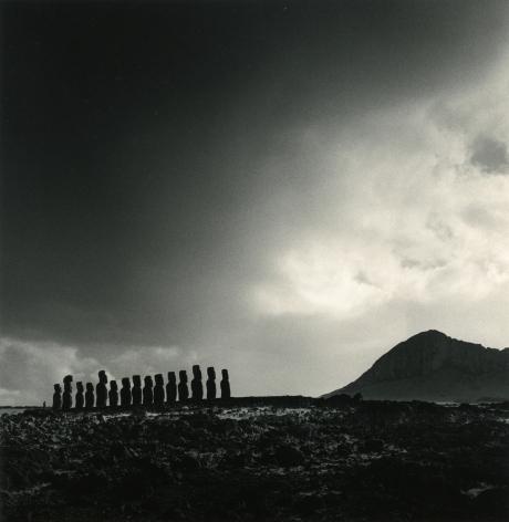 Moai, Study 20, Ahu Tongariki, Easter Island, 2000