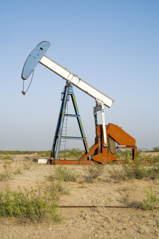 Oil Pump Jacks: Orla, Texas, from the series, Beneath the Dirt of Great Men