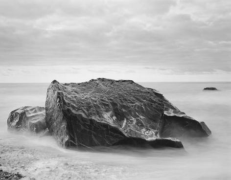 Okarito Beach, Tasman Sea, 2003, gelatin silver print