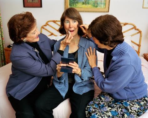 Sage Sohier, Mum and Laine making me up, Washington D.C., 2004
