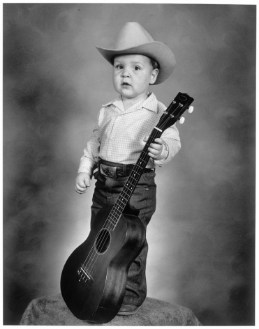 Leon Borensztein, Toddler with Guitar, Merced, California, 1980