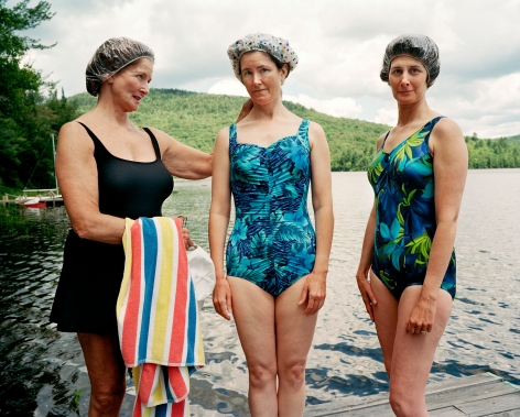 Sage Sohier, Mum, Me and Laine, Hewitt Lake, Minerva, NY, 2001