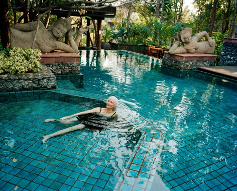 Sage Sohier, Swimming with Buddhas, Four Seasons Resort, Chiang Mai, Thailand, 2008