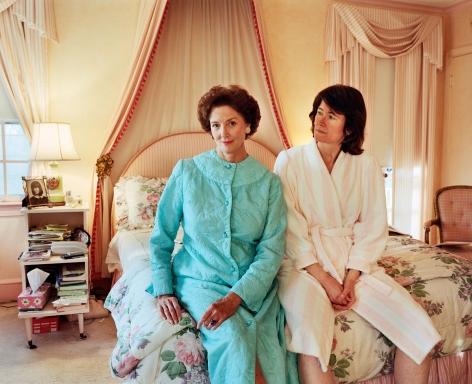 Sage Sohier, Mum and I in bathrobes, Washington D.C., 2000