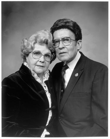 Leon Borensztein, Older Couple in Black Garments, Sonoma, California, 1984