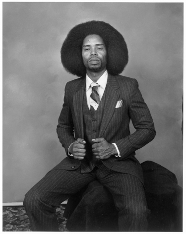 Leon Borensztein, Man with Afro, San Francisco, California, 1984