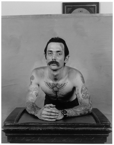 Leon Borensztein, Man with Swastika Tattoo on His Chest, Paradise, California, 1985