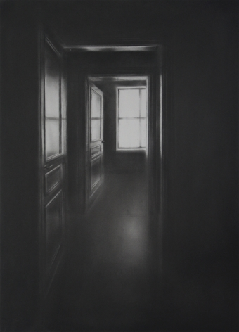 Simon Schubert, Untitled (Window and Two Doors), 2017
