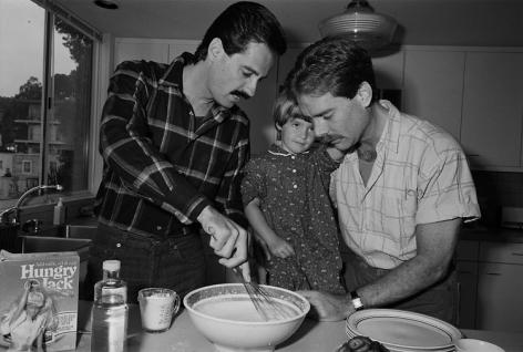 Sage Sohier, Bill & Ric, with Ric's Daughter Kate, San Francisco, 1987