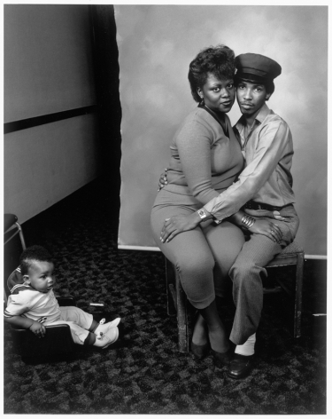 Leon Borensztein, Black Couple and Baby, Bakersfield, California, 1983