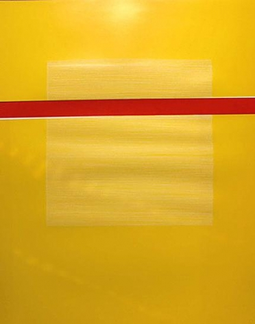 One Red Horizontal Band on Yellow, 2004
