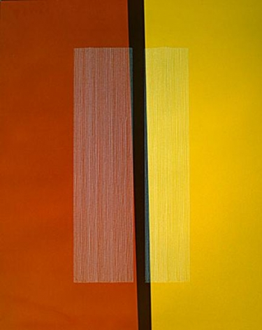 Vertical Band and Lines Seperating Red and Yellow, 2005