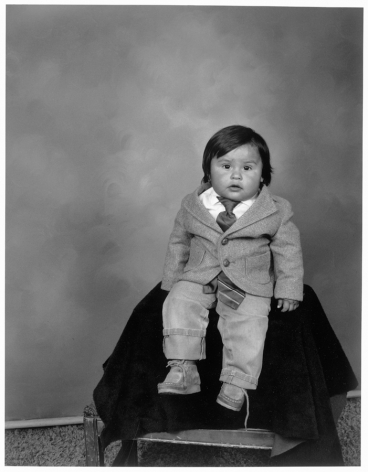 Leon Borensztein, Mexican Toddler with Tie, Reno, Nevada, 1979-1989