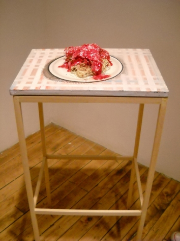 Michael Wetzel , Spaghetti Table & Vesuvius, 2009-10