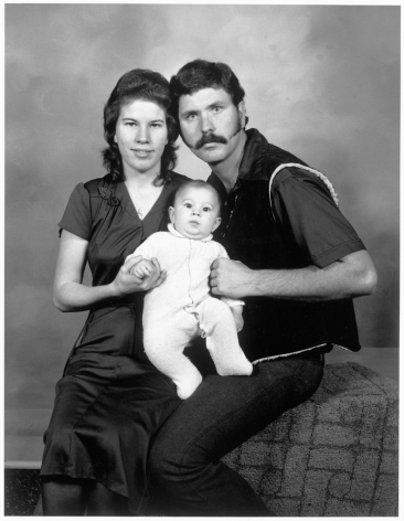 Leon Borensztein, Couple with Baby, Reno, Nevada, 1981