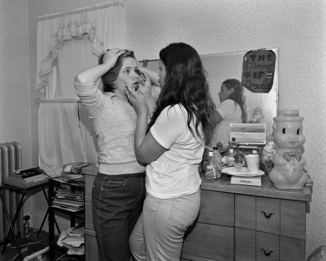 Mary Frey, Untitled (Girls Applying Mascara), 1979-1983