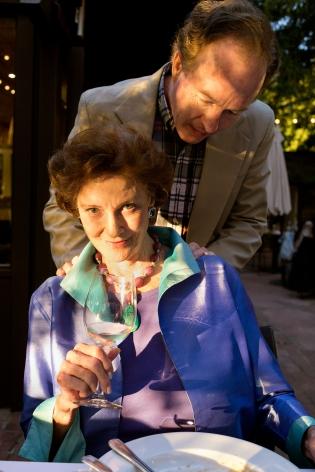 Sage Sohier, Back together with Robert, at Laine's 63rd birthday dinner, Sebastopol, CA, 2014