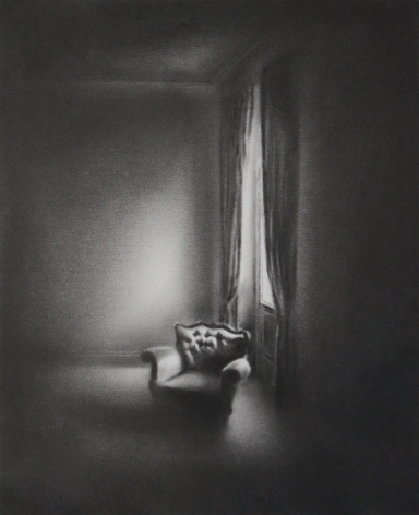 Simon Schubert, Untitled (Light on Armchair), 2017