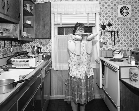 Mary Frey, Untitled (Woman with Pie), 1979-1983