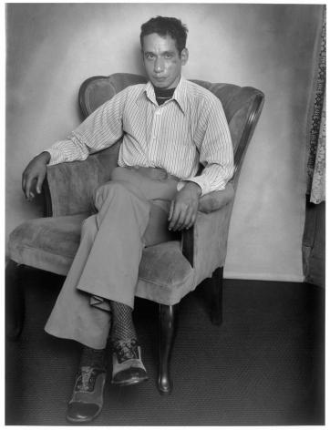 Leon Borensztein, Man in Arm Chair, San Francisco, California, 1979