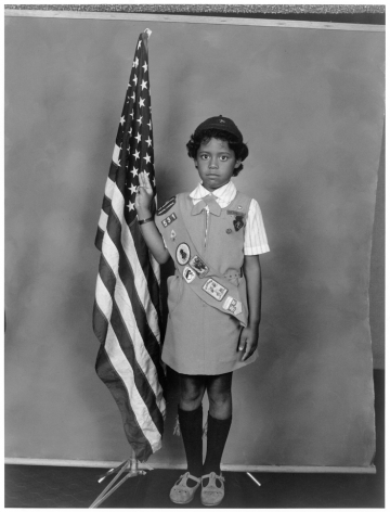 Leon Borensztein, Girl Scout with Flag, Maui, Hawaii, 1985