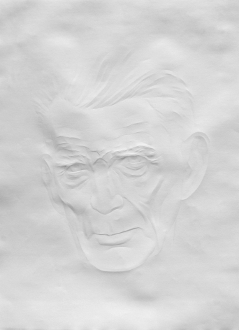 Simon Schubert, Portrait Samuel Beckett (1), 2015