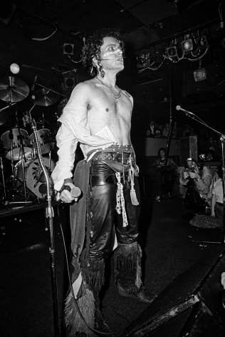 Michael Grecco, Adam Ant on stage, 1981